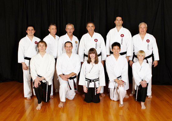 instructor corps of Fabiano's Karate